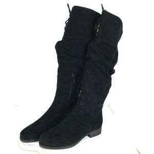 New Matisse Tie Front Suede Leather Slouch Boots